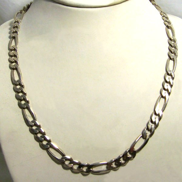 (n0803)Silver necklace type 3x1.